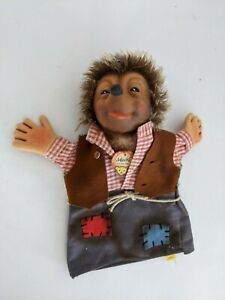"Vintage Steiff ""Mecki""  Hedgehog Hand Puppet w Tag / Label / Button 1960s"