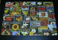 Lovely Label Flowers Jigsaw Puzzle Collection 750pc RoseArt 2004 COMPLETE #97111