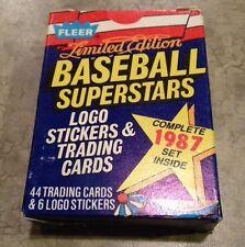 1987 FLEER SuperStars WAX BOX SET 1-44 Baseball Cards Vintage Limited Edition 87