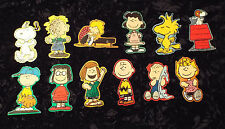"""Vintage """" Peanuts"""" Gang Stickers - complete collection, set of 12 - unique size"""