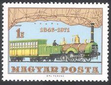 Hungary 1971 Trains/Steam/Transport/Rail/Railways/Locomotive/Map 1v (n27917)