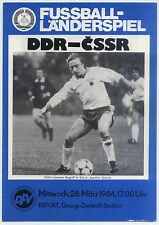 Länderspiel 28.03.1984 DDR - CSSR / Czechoslovakia in Erfurt