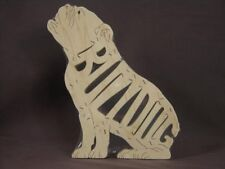 English Bulldog Sitting Wood Scroll Saw Toy Puzzle Amish Made NEW
