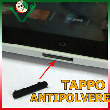 TAPPO stopper ANTI POLVERE gomma Apple iPad iPod iPhone