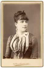 Berthomier, Bône, portrait de dame Vintage silver print  Tira