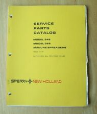New Holland Model 346 Amp 365 Manure Spreader Service Parts Catalog Manual