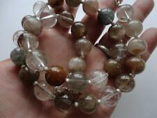 Sterling Silver Necklace By A.Singh Natural Rutilated Quartz Multi Colors With
