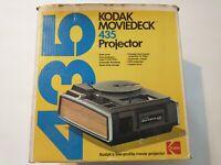 Kodak Moviedeck 435 Projector SUPER 8 8mm Movie In Box Instructions