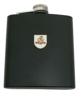West Riding Matte Black Stainless Steel Hip Flask Personalised ME12