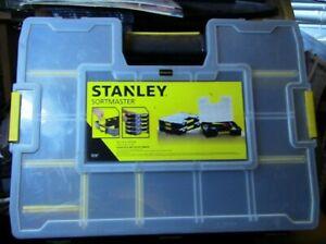 Stanley 15-Compartment Small Parts Organizer Clear Lid Bolt Screw Storage Bin