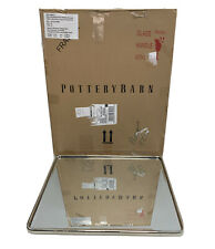 Pottery Barn Vintage Fixed Bath Mirror Polished Nickel 19�x23� New/Open box $249