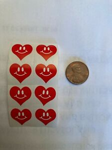 Tanning Bed Body Stickers Tattoos Heart with Smiley Face Quantity 100