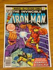 IRONMAN #108 VOL1 MARVEL COMICS YELLOW JACKET APPS MARCH 1978