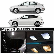 6x Premium White LED Lights Interior Package Kit for 2004-2009 Mazda 3