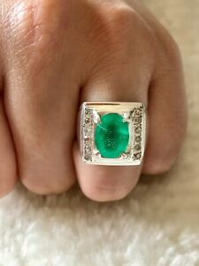 Natural Emerald Ring With Certificate