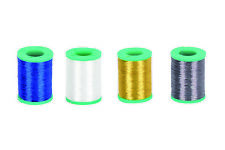 Dblue Fishing wrapping Ncp metallic thread 4 spools of white gold blue and grey
