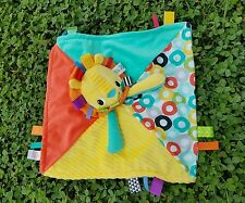 Taggies Lion Lovey Baby Security Blanket Red Yellow Blue Green Patchwork