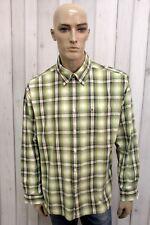 TOMMY HILFIGER Taglia 2XL Camicia Uomo Cotone Shirt Chemise Casual Manica Lunga