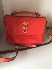 Mulberry Byrn Medium Sized Orange Leather Handbag
