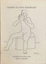 Edizioni di Vanni  Scheiwiller 1973 Catalogo