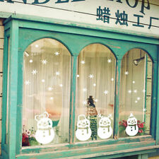 Snowflake Merry Christmas Snowman Vinyl wall sticker Decals Window decor