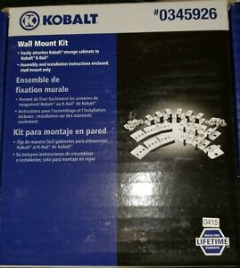 Kobalt Cabinets Wall Mount Kit K-Rail 0345926, 56722 LW013001-092014 New