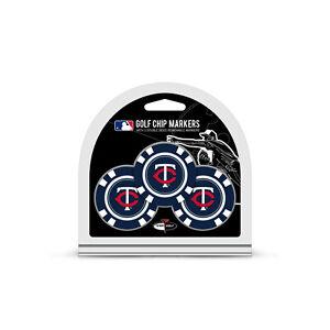 MLB Minnesota Twins 3 Pack Golf Ball Markers Poker Chip Enamel Team