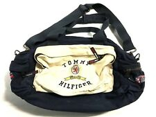Vintage 90's Tommy Hilfiger Colorblock Sail Spell Out lotus packable Duffel Bag
