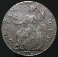1773 | George III Half-Penny | Copper | Coins | KM Coins
