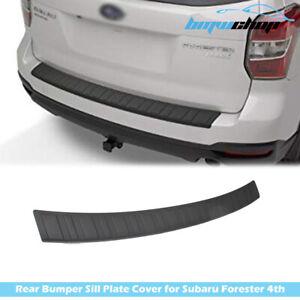 Fit For Subaru Forester SJ 4th Rear Bumper Sill Protector Plate Trim Cover 13-17