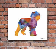 Labradoodle Abstract Watercolor Painting Art Print by Artist DJ Rogers