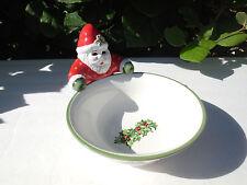 Christmas Santa & Bowl Candy Dish Traditions Celebrations Christopher Radko