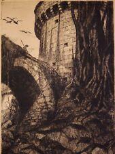 Fernand HERTENBERGER (1882-1970) Château de Tiffauges Vendée Gilles de Rais retz