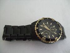 Genuine Elite Men's Black Chronograph 100M Water Resistant WATCH ..  NEW in Box