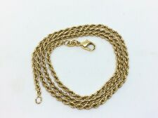 Superb Antique Vintage 9ct Rolled Gold Rope Chain Necklace 50cm Long