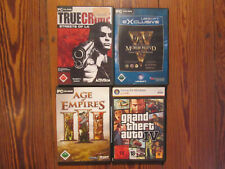 4 PC Games CD ROM Grand Theft Auto IV Age of Empire