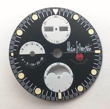 Alain Silberstein Krono 2 Chronograph Watch Dial 31mm Black & White Day Date