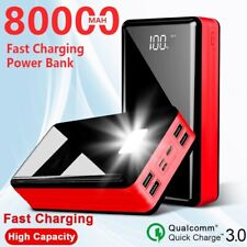 80000mAh portable power bank travel led  external battary charger for phone