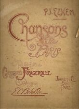 CHANSONS DE PARIS       PJ ELHEM    georges FRAGEROLLE