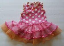 Baby Starters Pink/Orange Polkadot Tutu Dress Bodysuit Size 3-6 mo One Piece