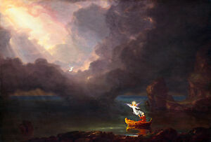 Thomas Cole - The Voyage of Life Old Age, 1842 Art Poster, Museum Canvas Print