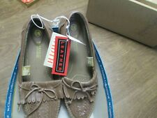 Walkables Women Brown leather MOCCASIN TOE SIZE 10 WIDE NEW NEVER WORN ALL TAGS