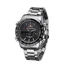 NAVIFORCE 3ATM Waterproof Wristwatch Dual Time Quartz Sports Men Watch O7Y5