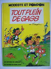 Franquin Modeste et Pompon tout plein de gags Lombard 1973 édition originale TBE