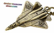 Bronze Brass Keychain Russian Stealth Air Superiority Fighter Su-57 Felon