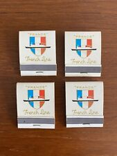 4 Boites Allumettes Paquebot France / French Line Collection / Vintage TBE