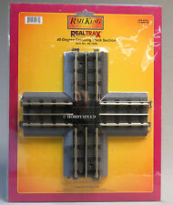 MTH REALTRAX 90 DEGREE CROSSING TRACK SECTION o gauge train Nickel rail 40-1006