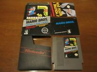 The Original Mario Bros Nintendo NES Complete CIB Arcade Classic Series super