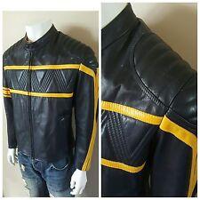 New Pittsburgh Penguins Nhl Stanley Cup Leather Jacket Coat 38 40 Med Vtg