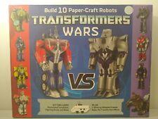 Hasbro Transformers Wars Optimus Prime vs Megaton Build Paper Craft Robots
